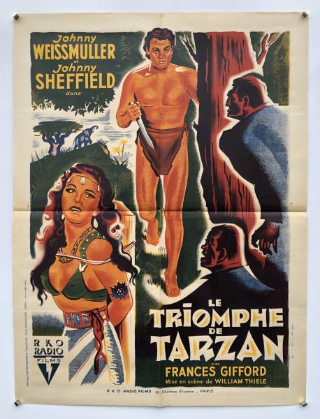 LE TRIOMPHE DE TARZAN William Thiele - 1943 Avec Johnny Weissmuller, Johnny Sheffield [...]