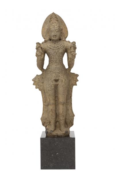 A granite figure of Surya, South India, Chola period, 12th century, A finely carved [...]