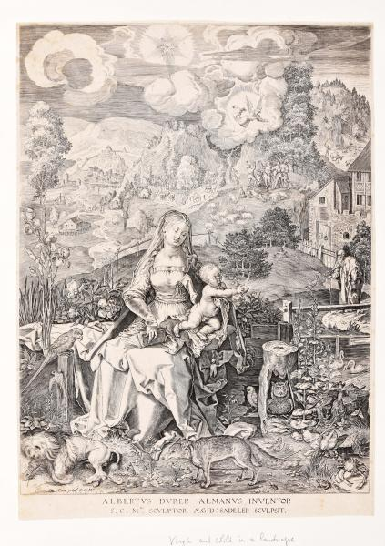 (Dutch) - SADELER, Aegidius. After Albrecht Dürer Virgin and child in a landscape. [...]