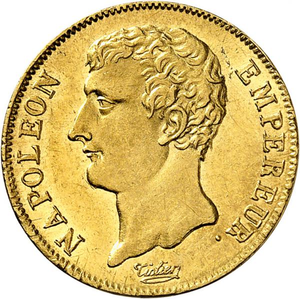FRANCE  - Premier Empire (1804-1814). 20 francs an 12 A, Paris.  - Av. Tête nue à [...]
