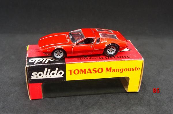 SOLIDO - France - métal - 1/43e (1) # 166 De Tomaso Mangusta Version unicolore, [...]