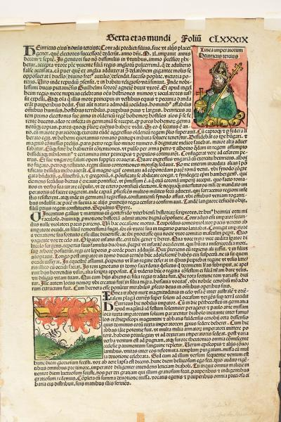 (German) - SCHEDEL, Hartman Folio from Liber chronicarum. Nuremberg, Anton Koberger, [...]