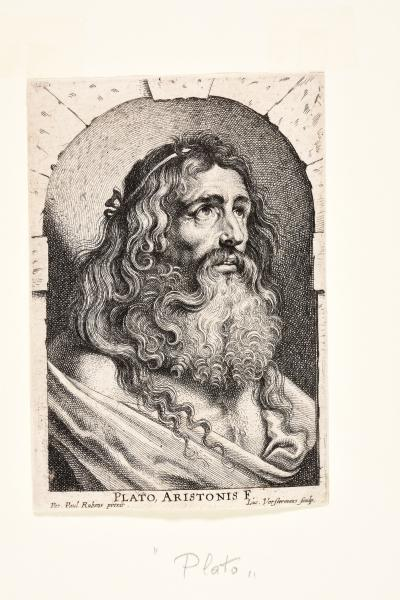 (Flemish) - VORSTERMAN, Lucas. After Peter Paul RUBENS Bust of Plato. C. 1620 [...]