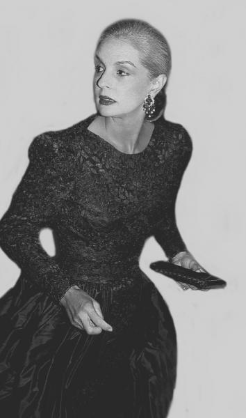 Rose HARTMAN (Née en 1937)  - CAROLINA HERRERA.Private Party, Saks 5th Ave.Late [...]