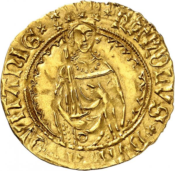FRANCE  - Aquitaine, Charles de France (1469-1472). Hardi d'or, Bordeaux.  - Av. [...]