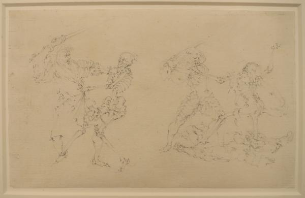 (Dutch school) - After Hans HOLBEIN the Younger Noblemen fighting with Death. Second [...]