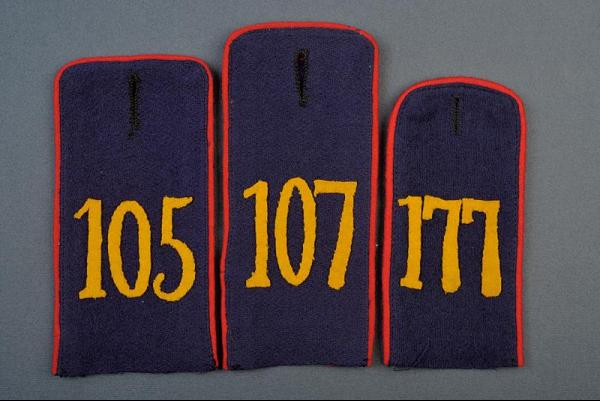 A lot of three single infantry trooper's shoulder boards - dating: about 1910 [...]