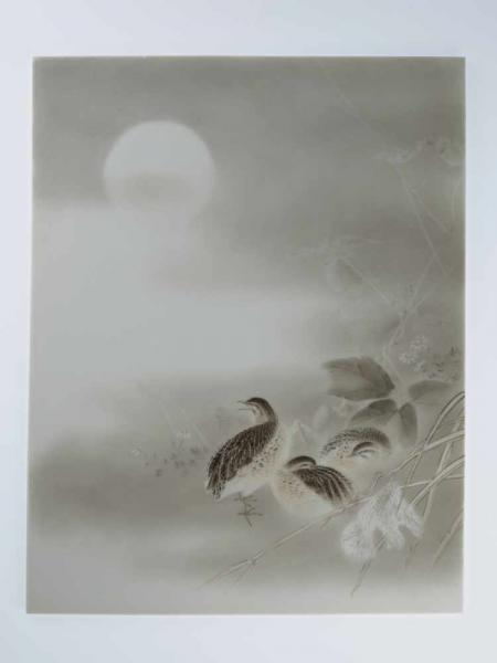KATO ZENJI III: A SUPERB PORCELAIN PAINTING OF A WINTER SCENE WITH QUAILS By Kato [...]