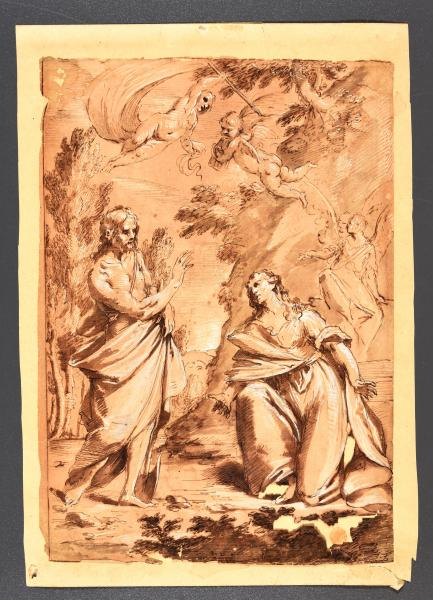 (Italian school) - Circle of GIONIMA, Antonio Noli me tangere. C. 1680-1730 Drawing, [...]