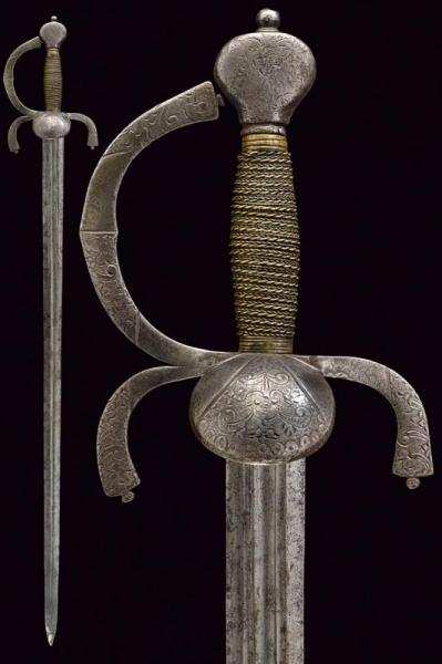A rapier - dating: 16th Century provenance: Italy, Straight, double-edged blade, of [...]