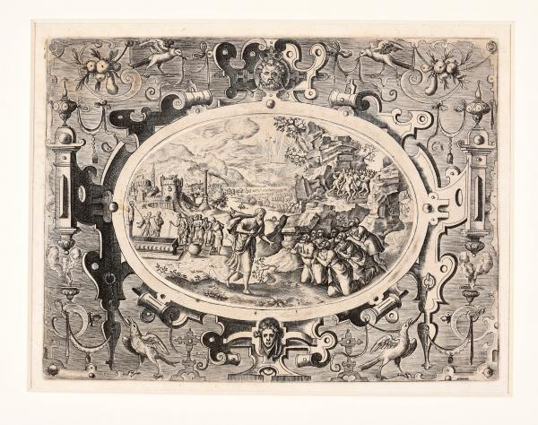 (Flemish) - van der BORCHT , Pieter IV The Story of Elijah and Elisha. Antwerp, G. de [...]