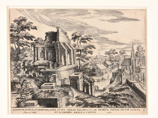 (Flemish) - COLLAERT, Adriaen. After Hendrik van Cleve 10 landscapes with ruins. 1587 [...]