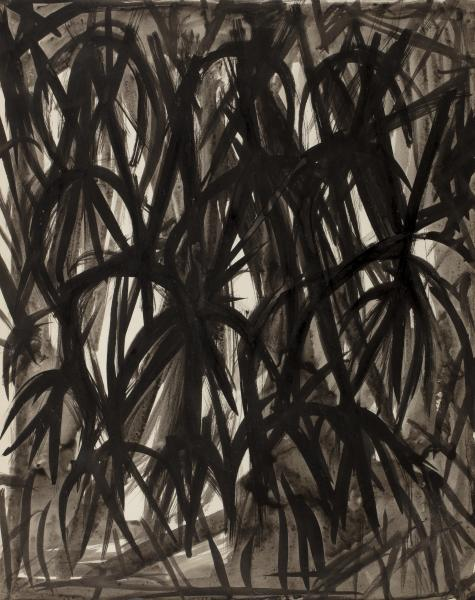 Jacques GERMAIN (1915- 2001)   - Composition   - Encre sur papier portant le cachet [...]