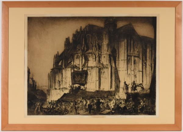 - BRANGWYN, Frank Church of Notre-Dame, Eu [Normandy]. 1909 Etching, 59,5 x 77 cm; [...]