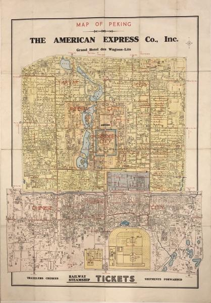 [CHINE] MAP OF PEKING. The American Express Co., Inc. G