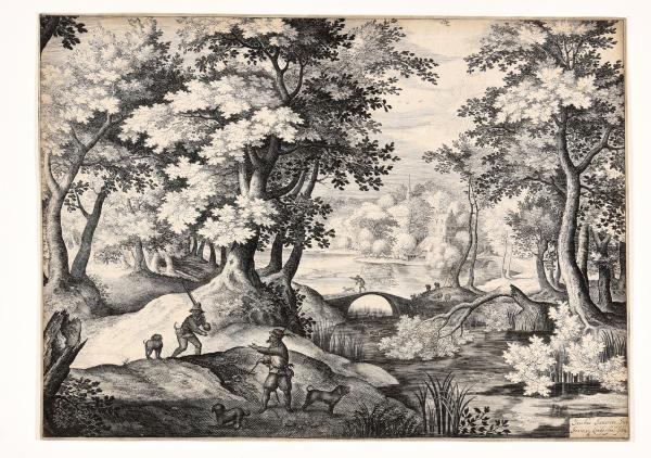 (Dutch) - Van LONDERSEEL, Jan. After Jacob I Savery  Landscape with hunting scene. [...]