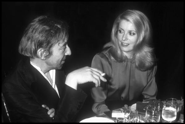 Guy MARINEAU (Né en 1947)  - Serge Gainsbourg et Catherine Deneuve 1980  - Tirage [...]
