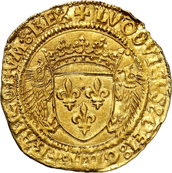 FRANCE  - Louis XII (1498-1514). Écu d'or aux porcs-épics point quatrième, [...]