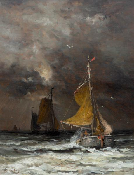 Hendrik Willem Mesdag (1831-1915) - Heavy weather, signed 'HW. Mesdag' (lower left), [...]
