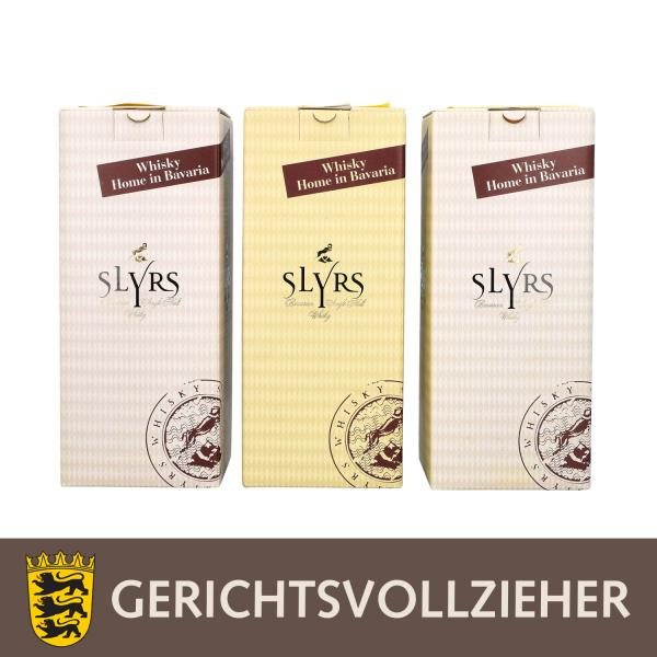 SLYRS 3 Flaschen Single Malt Bavarian Whisky, 2006