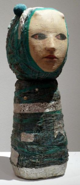 Marroquí azul  - Mariana Monteagudo  - 2008  - Ceramics and mixed media  - 42 x 12 x [...]