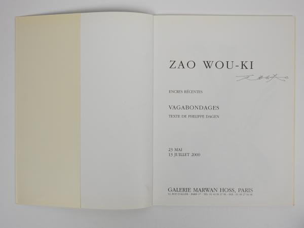Zao Wou Ki (1920-2013)  - Catalogue de l'exposition