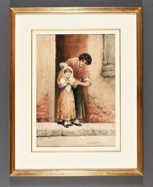 - DELL'ACQUA, Cesare Mother and child. [Brussels], c. 1850-1905 Drawing, watercolour, [...]
