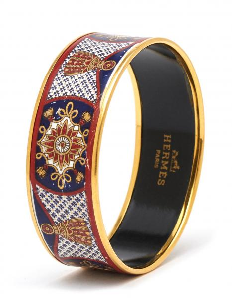 HERMÈS PARIS MADE IN AUSTRIA  -   - A BRACELET, gilt and painted with enamel. In [...]
