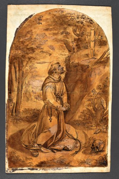 (German school) - Follower of CANDID, Peter Saint Francis in prayer. [Munich], c. [...]