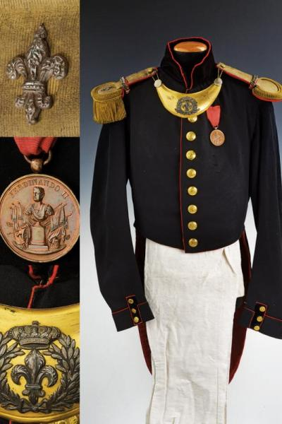 A military engineer officer's uniform - dating: 1850 provenance: Kingdom of the Two [...]
