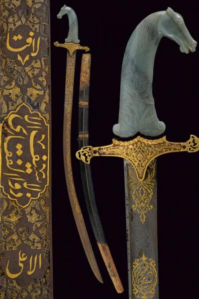 An important kilij with jade hilt - dating: 19th Century  - provenance: India, [...]