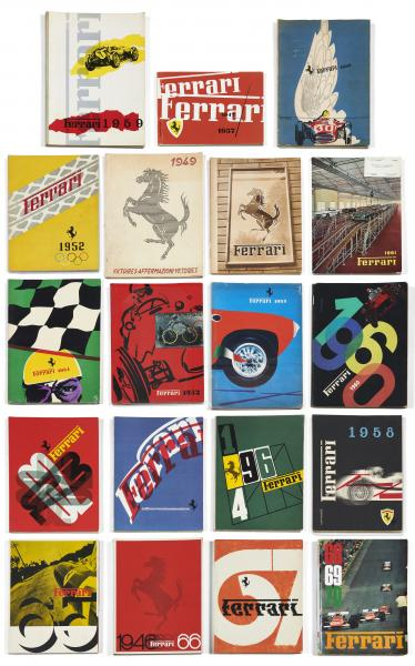 FERRARI YEARBOOKS   - Rare ensemble de 19 yearbooks, collection de 1949 à 1970  - [...]