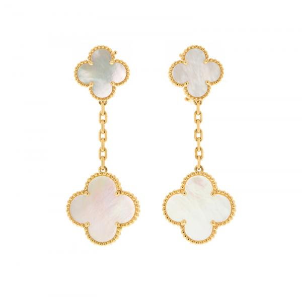Van Cleef & Arpels, Magic Alhambra, paire de pendants d'oreilles or 750 ornés de [...]