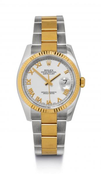 * - Gentleman's Wristwatch, Rolex Datejust, ca. 2005.  - Stainless steel and yellow [...]