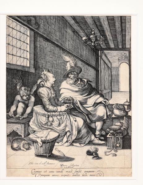 (Dutch) - BREEN, Gillis van. After Esaias van de VELDE The woman and the rich man, [...]