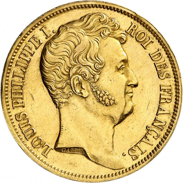 FRANCE  - Louis Philippe (1830-1848). 5 francs 1830 A, Paris, essai en or par Galle, [...]
